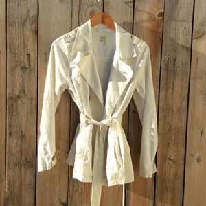 Old Navy Natural Washable Linen Trench M